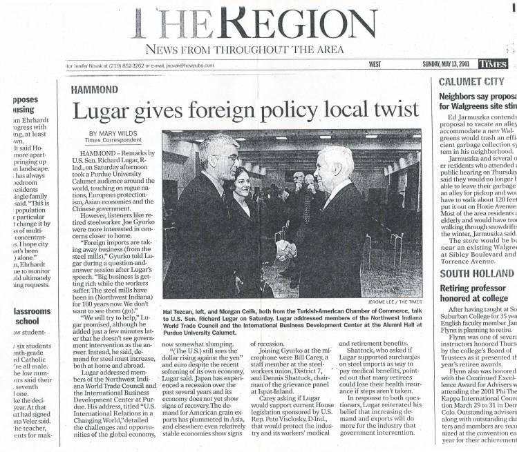 Senator Lugar Visit